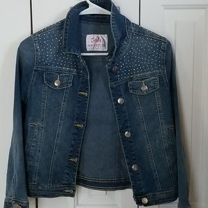 Justice Brand Denim Studded Jacket